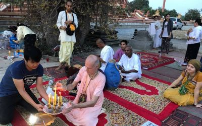 A HINDU SHRINE AMIDST A BUDDHIST MONASTERY