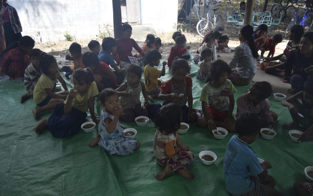 Damodara Puja and food for life at Siem Reap