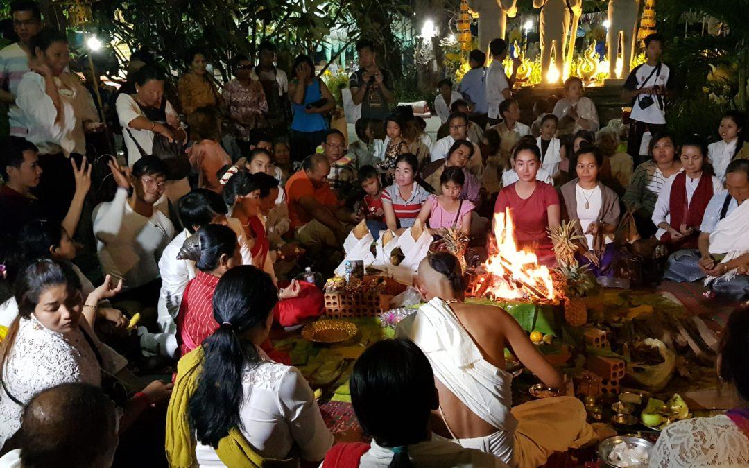 Yajna in Local Ceremony in Wat Preah Theat